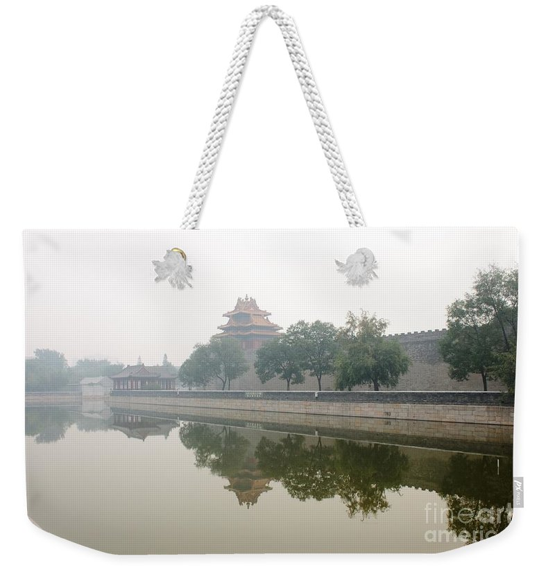 Forbidden City Weekender Tote Bag featuring the photograph North Wall Of The Forbidden City Beijing China by Thomas Marchessault