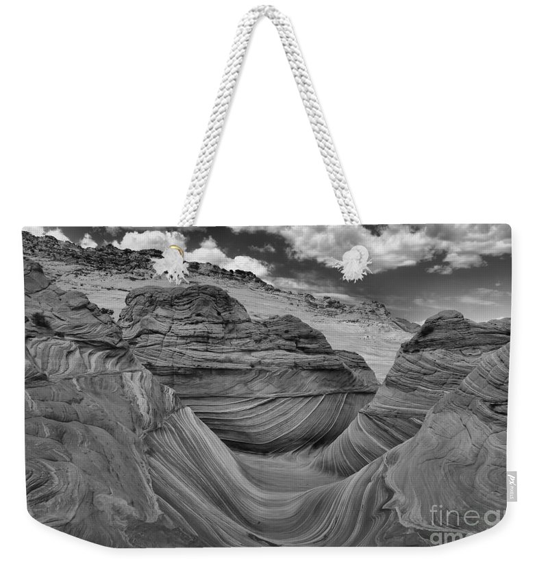 Coyote Buttes Weekender Tote Bag featuring the photograph Northern Arizona Desert Swirls by Adam Jewell
