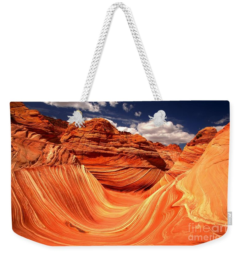 The Wave Weekender Tote Bag featuring the photograph Northern Arizona Paradise by Adam Jewell