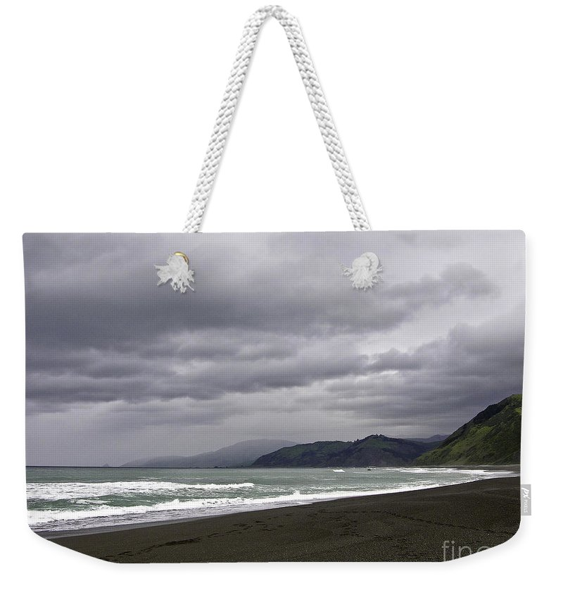 Ocean Weekender Tote Bag featuring the photograph Northern California Beach by Martha Johnson