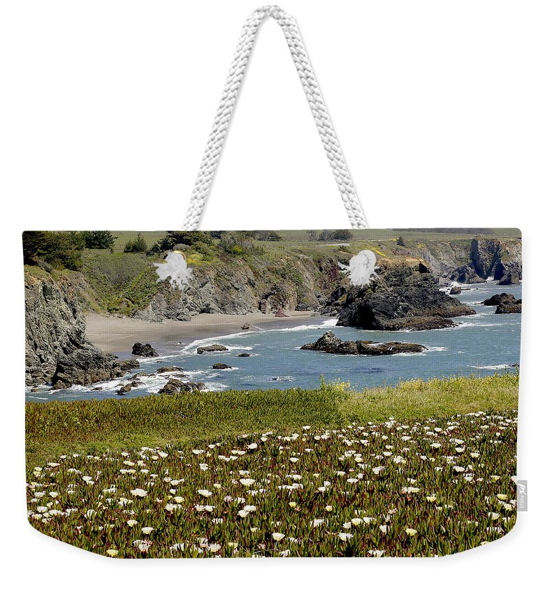 Highway 1 Weekender Tote Bag featuring the photograph Northern California Coast Scene by Mick Anderson