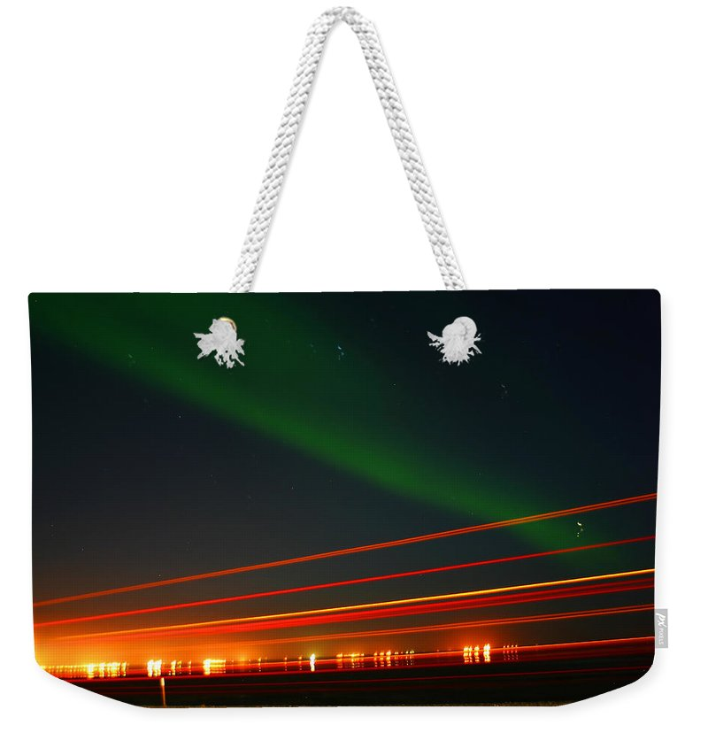 Northern Lights Weekender Tote Bag featuring the photograph Northern Lights by Anthony Jones