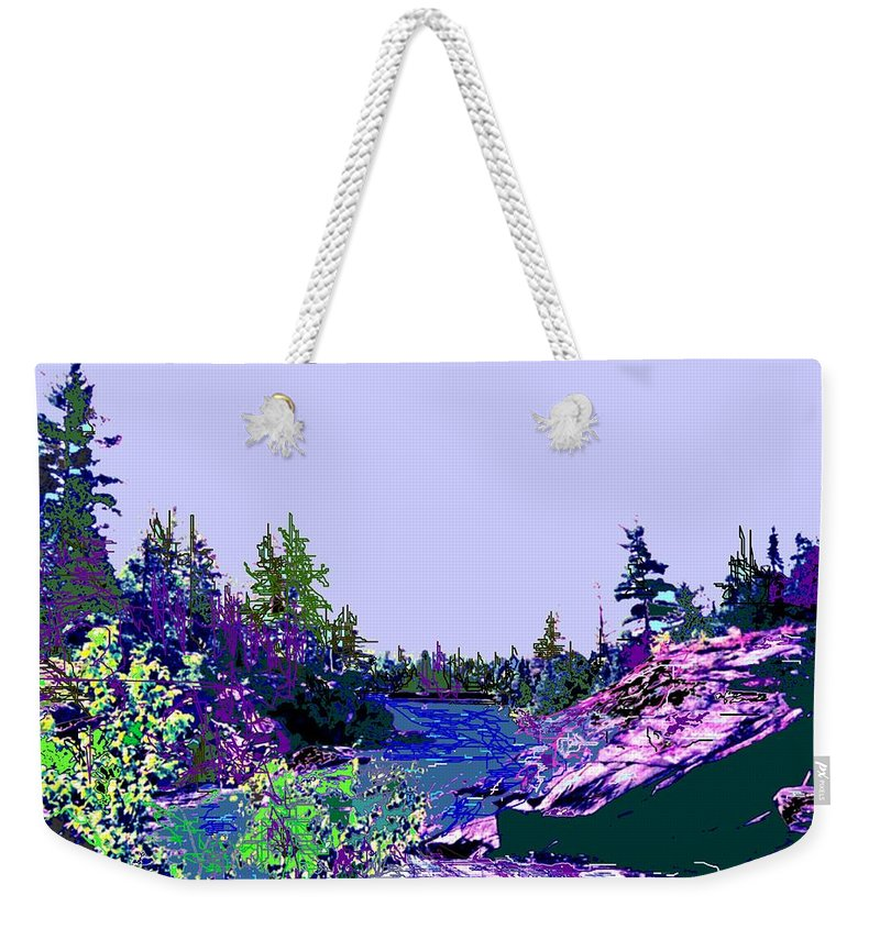 Norlthern Weekender Tote Bag featuring the photograph Northern Ontario River by Ian MacDonald
