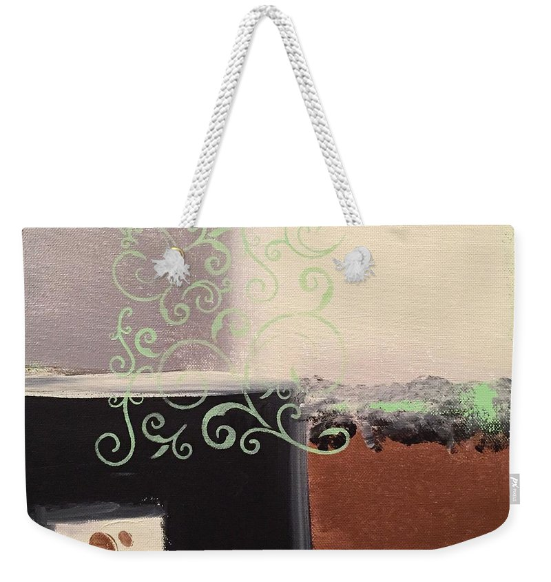 Subtle Weekender Tote Bag featuring the painting Nostalgia by Richy Sharshan