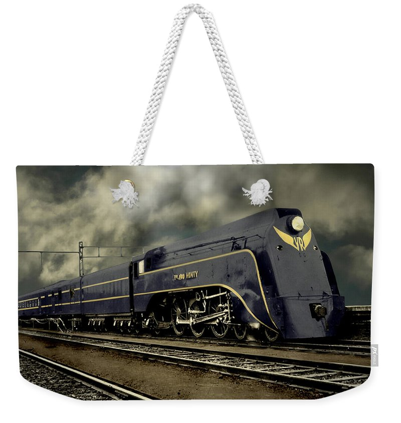 Colourized Weekender Tote Bag featuring the photograph Nostalgic Era by Steven Agius