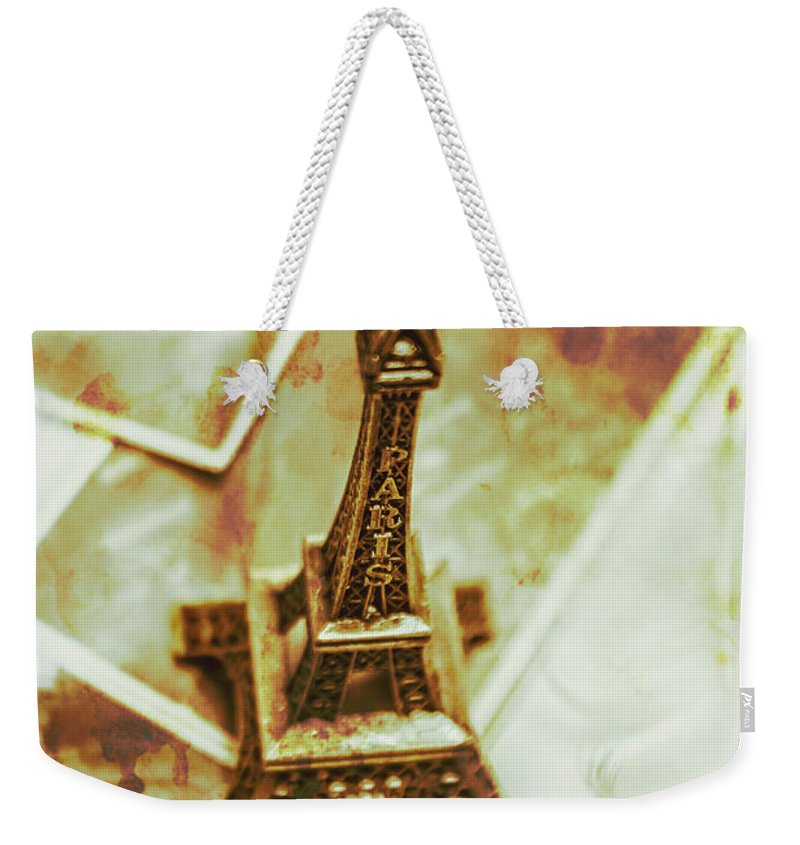 Vintage Weekender Tote Bag featuring the photograph Nostalgic Mementos Of A Paris Trip by Jorgo Photography - Wall Art Gallery