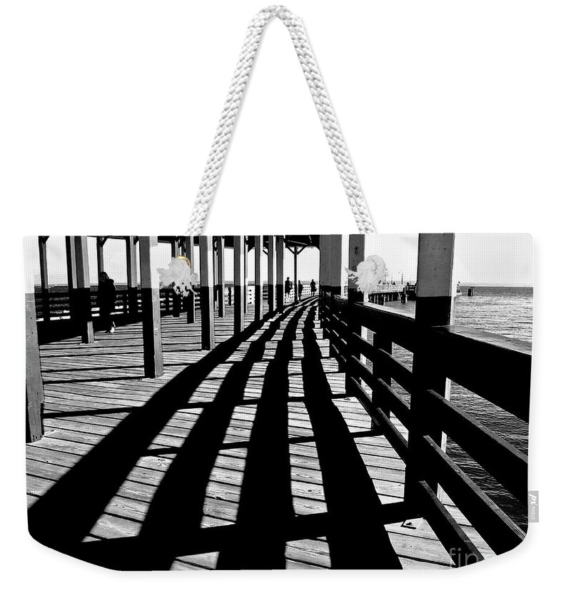 Pier Weekender Tote Bag featuring the photograph Nostalgic Walk On The Pier by Carol F Austin