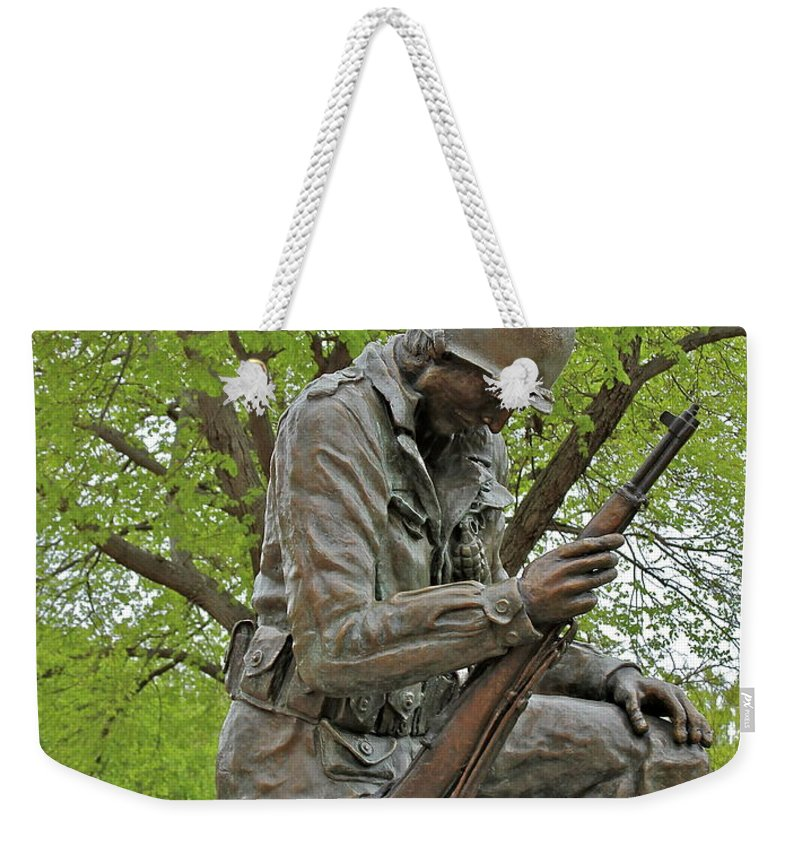 Statue Weekender Tote Bag featuring the photograph Not Forgotten by Rick Monyahan