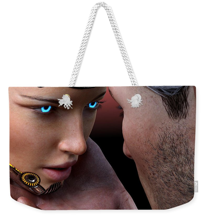 Female Weekender Tote Bag featuring the digital art Not I, But We. by Michael Ruffino