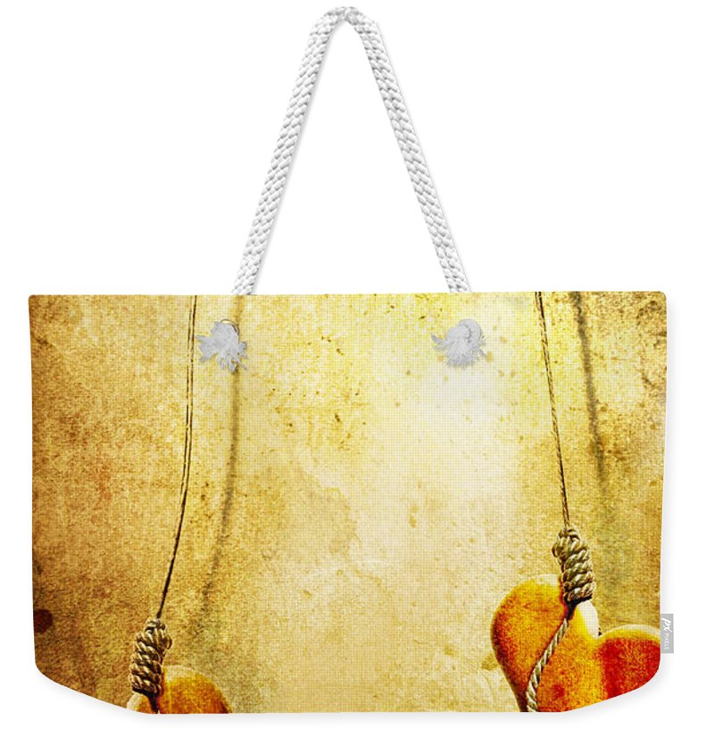 Puppeteer Weekender Tote Bag featuring the painting Not Meant To Be... by Jacky Gerritsen