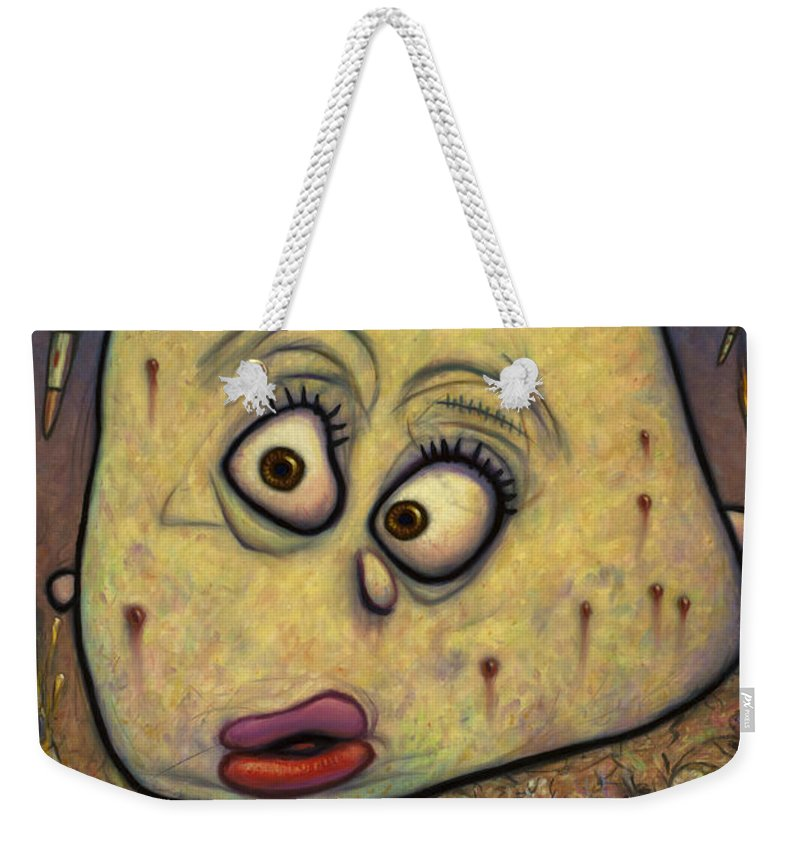Anti-war Weekender Tote Bag featuring the painting Not Playing War by James W Johnson