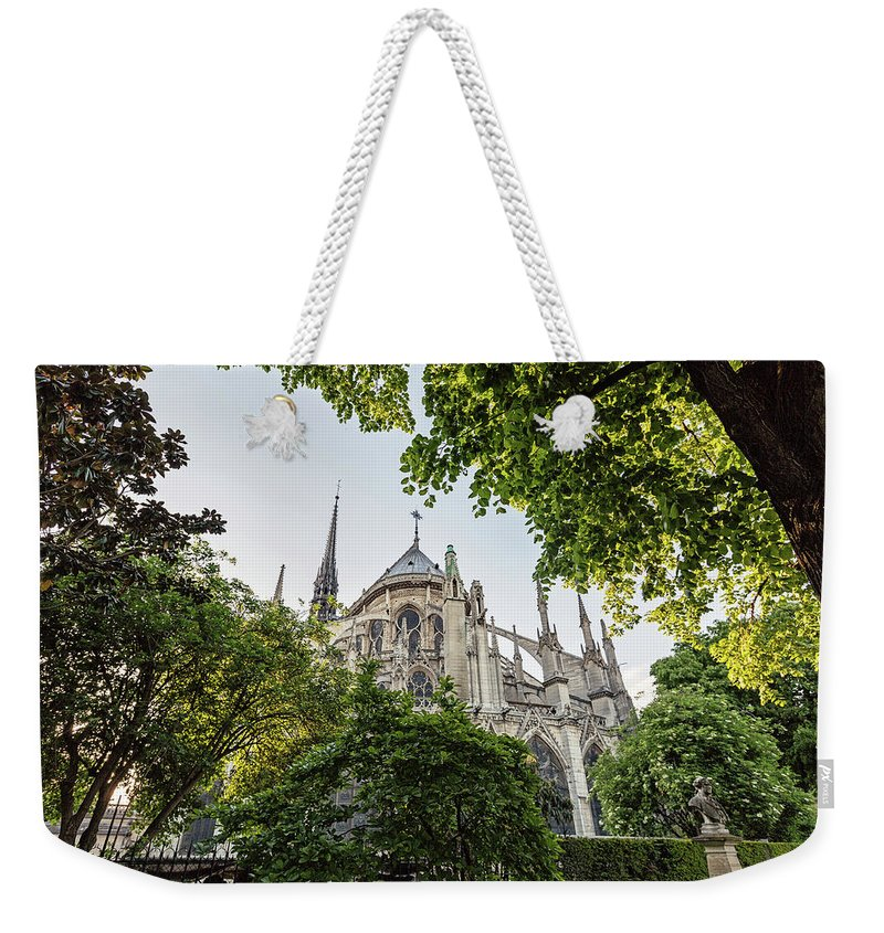 Notre Dame Weekender Tote Bag featuring the photograph Notre Dame Cathedral - Paris, France by Melanie Alexandra Price