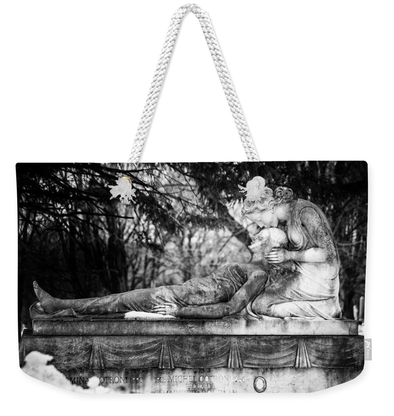 Cemetery Weekender Tote Bag featuring the photograph Notre-dame-des-neiges Cemetery by David Hare