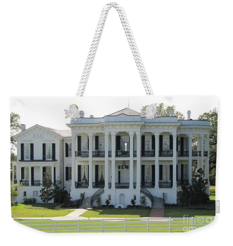 Plantation Homes Weekender Tote Bag featuring the photograph Nottoway Plantation by Michelle Powell