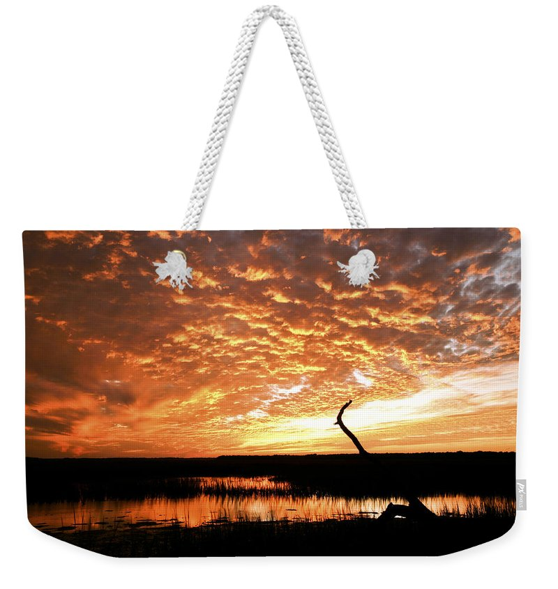 Sunset Weekender Tote Bag featuring the photograph November Evening by Phill Doherty