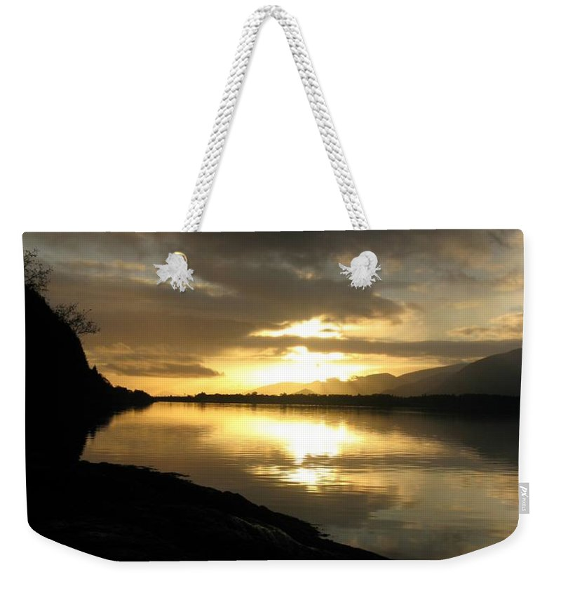 Sunset Weekender Tote Bag featuring the photograph November by Maria Joy