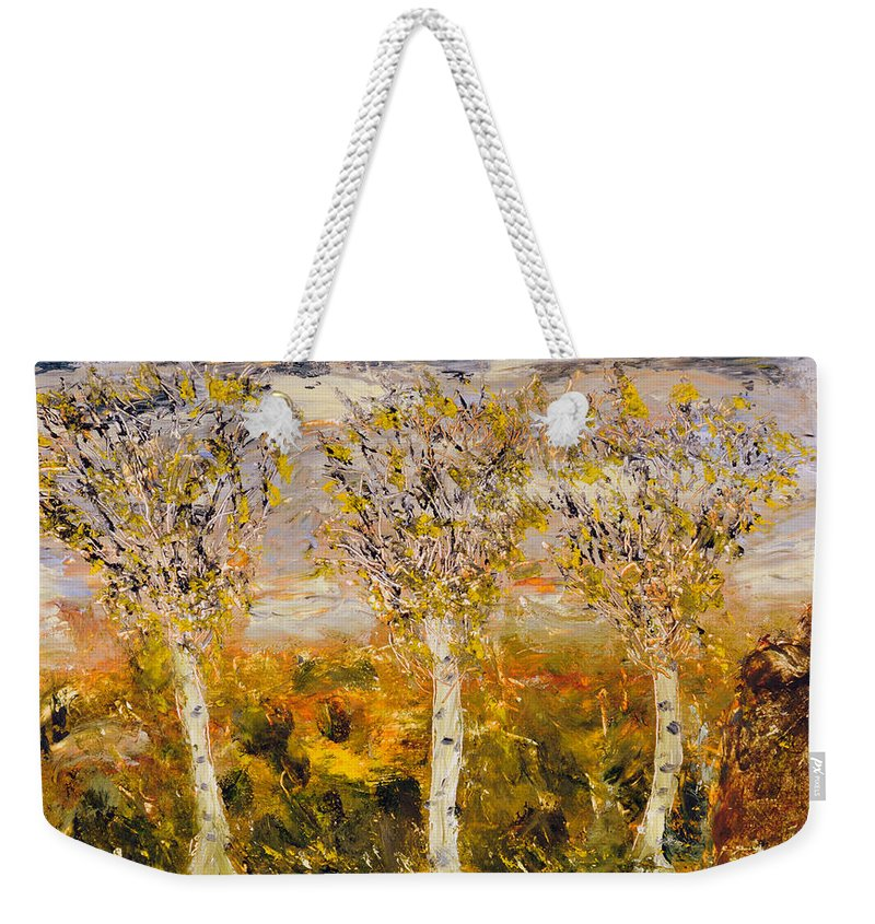 Weekender Tote Bag featuring the painting November by Martha Dolan
