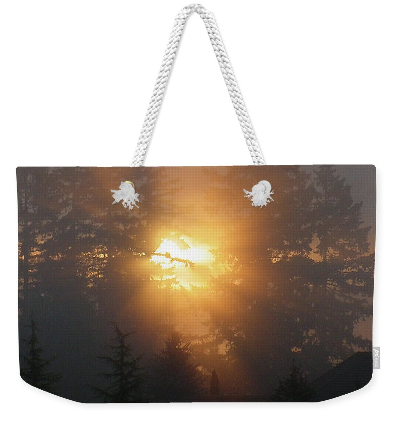 Sun Weekender Tote Bag featuring the photograph November Sunrise - 1 by Shirley Heyn