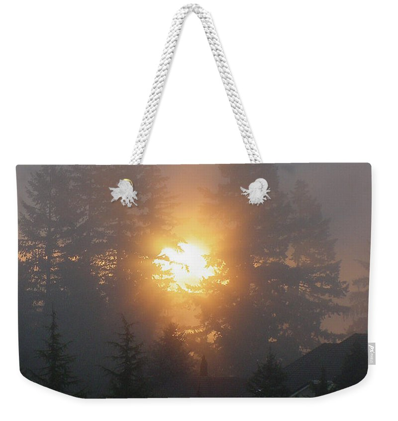 Sun Weekender Tote Bag featuring the photograph November Sunrise 2 by Shirley Heyn