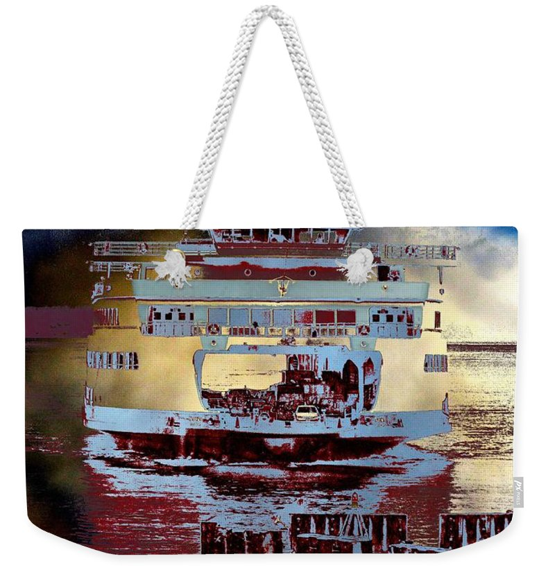 Seattle Weekender Tote Bag featuring the photograph Now Arriving by Tim Allen