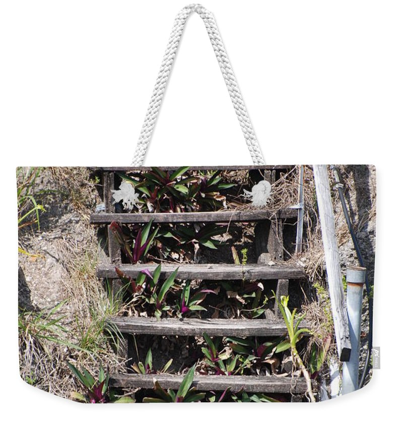Stairs Weekender Tote Bag featuring the photograph Nowhere Stairs by Rob Hans