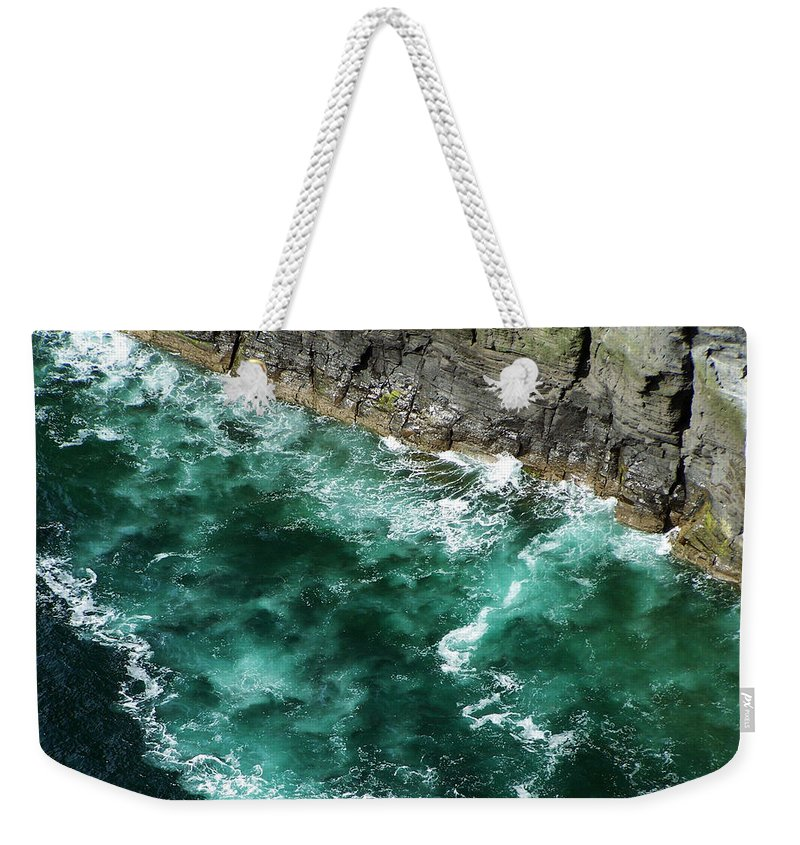 Irish Weekender Tote Bag featuring the photograph Nowhere To Go Cliffs Of Moher Ireland by Teresa Mucha