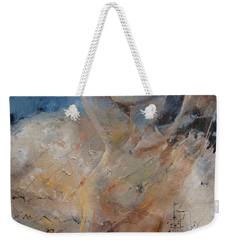 Nude Weekender Tote Bag featuring the painting Nude 0508 by Pol Ledent