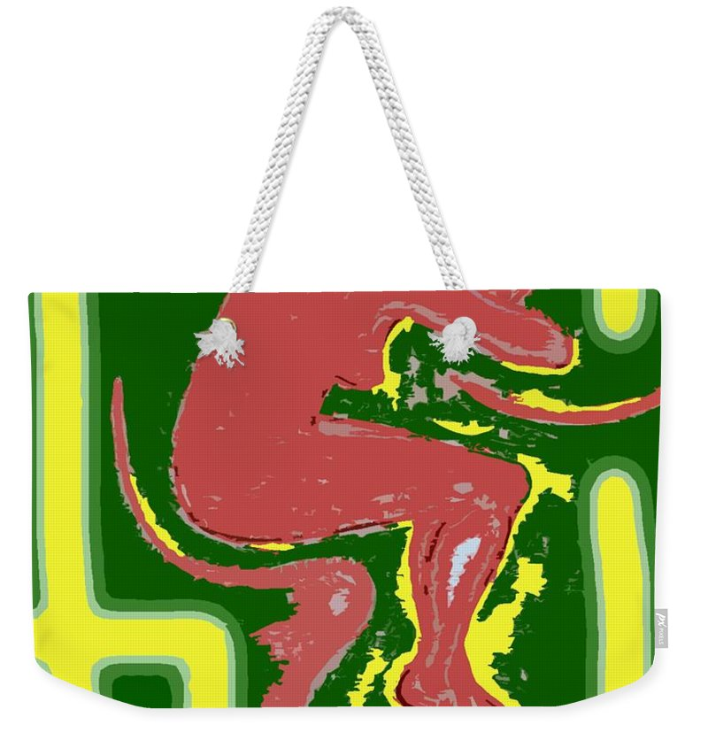 Nude Weekender Tote Bag featuring the painting Nude 17 by Patrick J Murphy