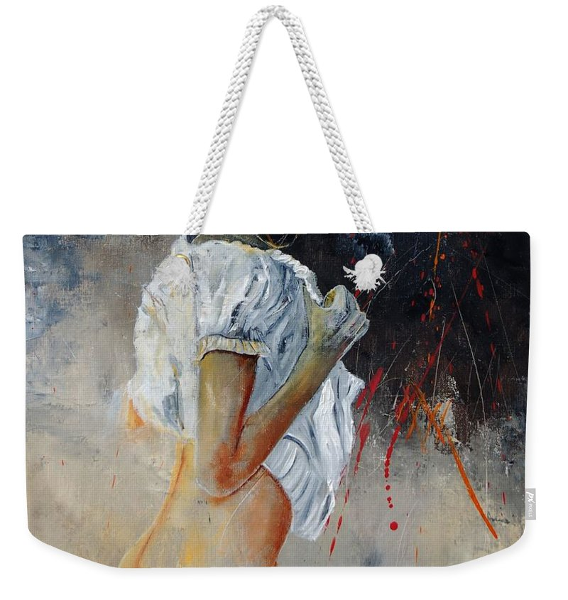 Nude Weekender Tote Bag featuring the painting Nude 560508 by Pol Ledent
