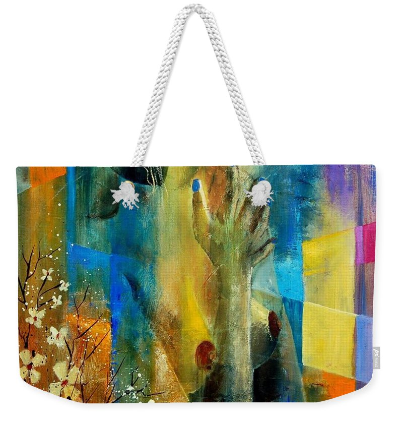 Nude Weekender Tote Bag featuring the painting Nude 5609082 by Pol Ledent