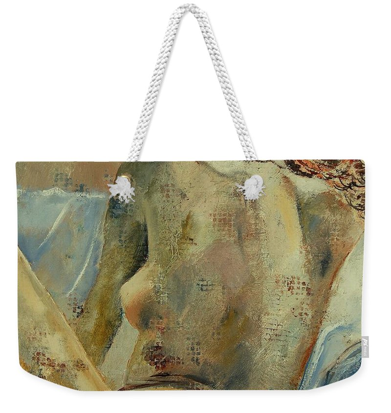 Weekender Tote Bag featuring the painting Nude 56905092 by Pol Ledent
