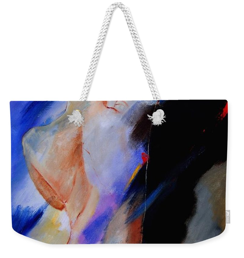 Nude Weekender Tote Bag featuring the painting Nude 579020 by Pol Ledent