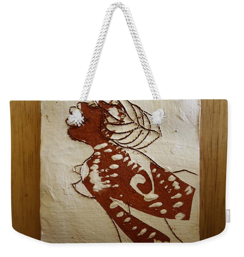 Jesus Weekender Tote Bag featuring the ceramic art Nude 6 - Tile by Gloria Ssali