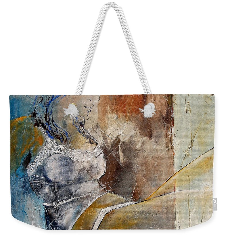 Nude Weekender Tote Bag featuring the painting Nude 67524236 by Pol Ledent