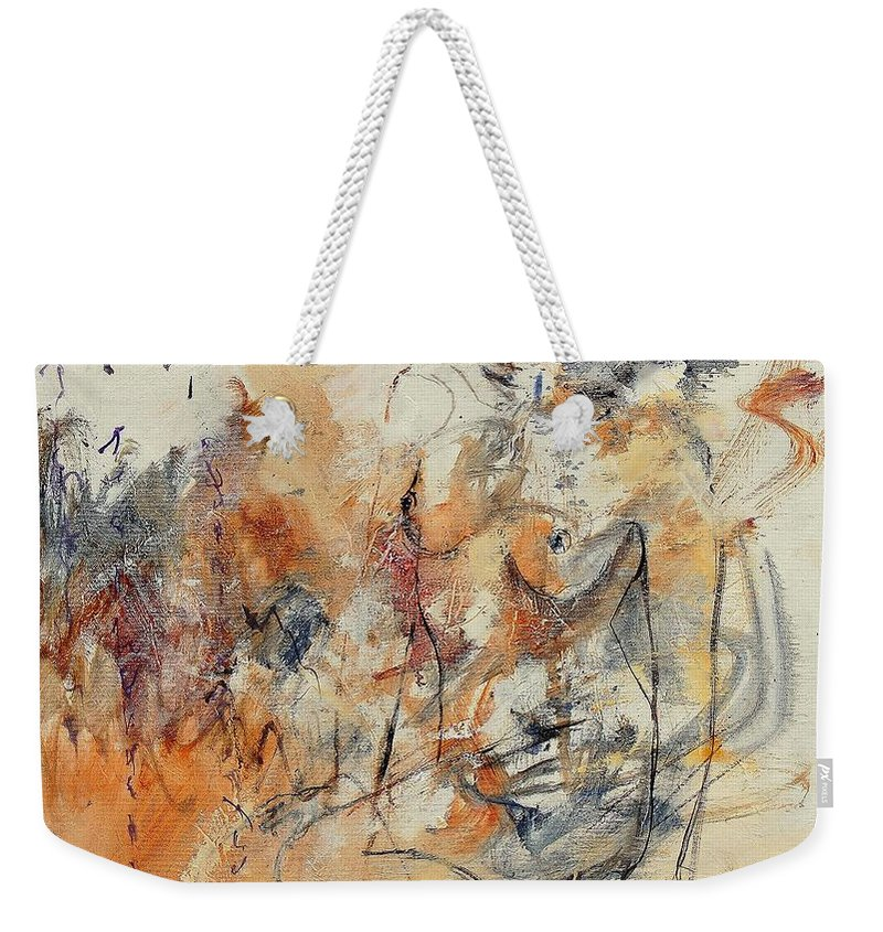 Girl Weekender Tote Bag featuring the painting Nude 679070 by Pol Ledent