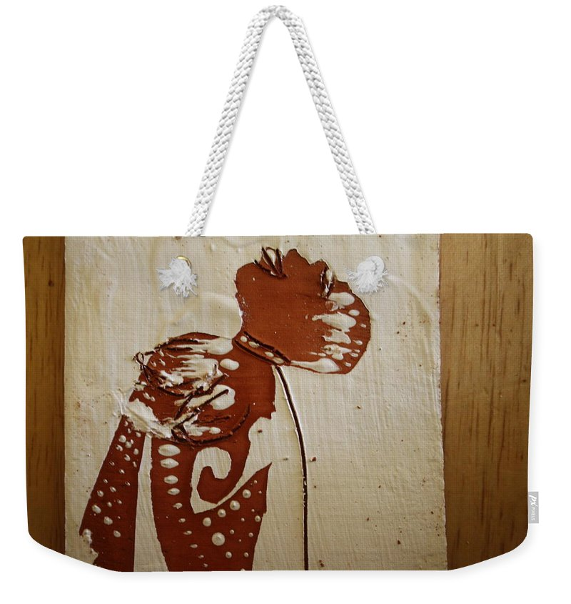 Jesus Weekender Tote Bag featuring the ceramic art Nude 8 - Tile by Gloria Ssali
