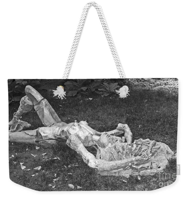 Sculpture Weekender Tote Bag featuring the photograph Nude In The Park by Debbi Granruth