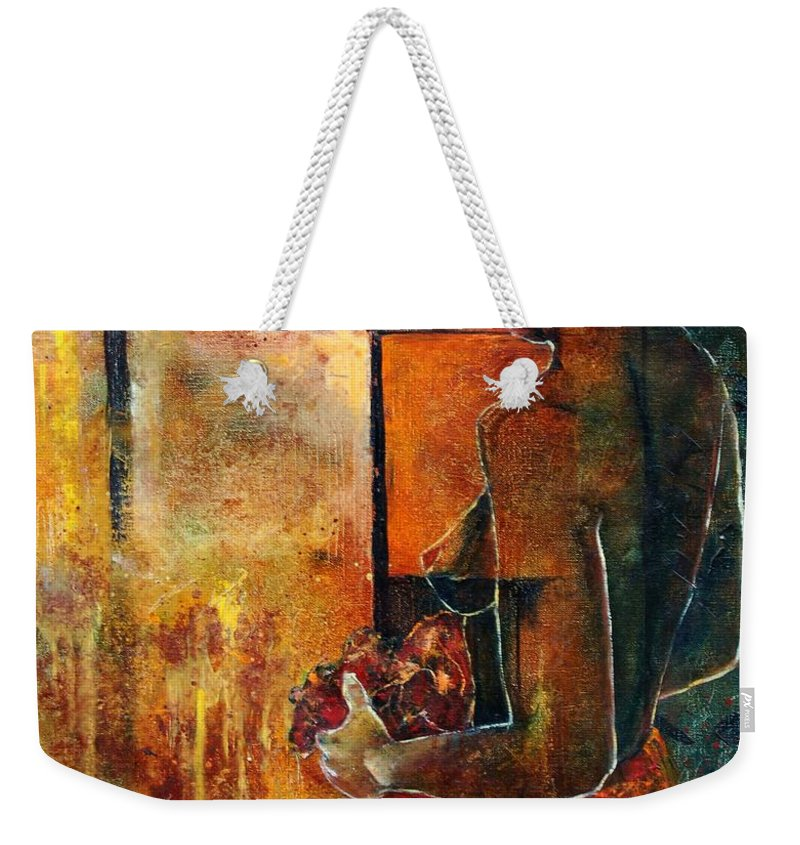 Woman Girl Fashion Nude Weekender Tote Bag featuring the painting Nude by Pol Ledent