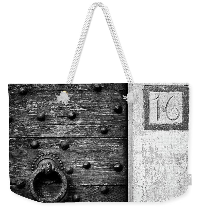 Number 16 Weekender Tote Bag featuring the photograph Number 16 by Dave Bowman