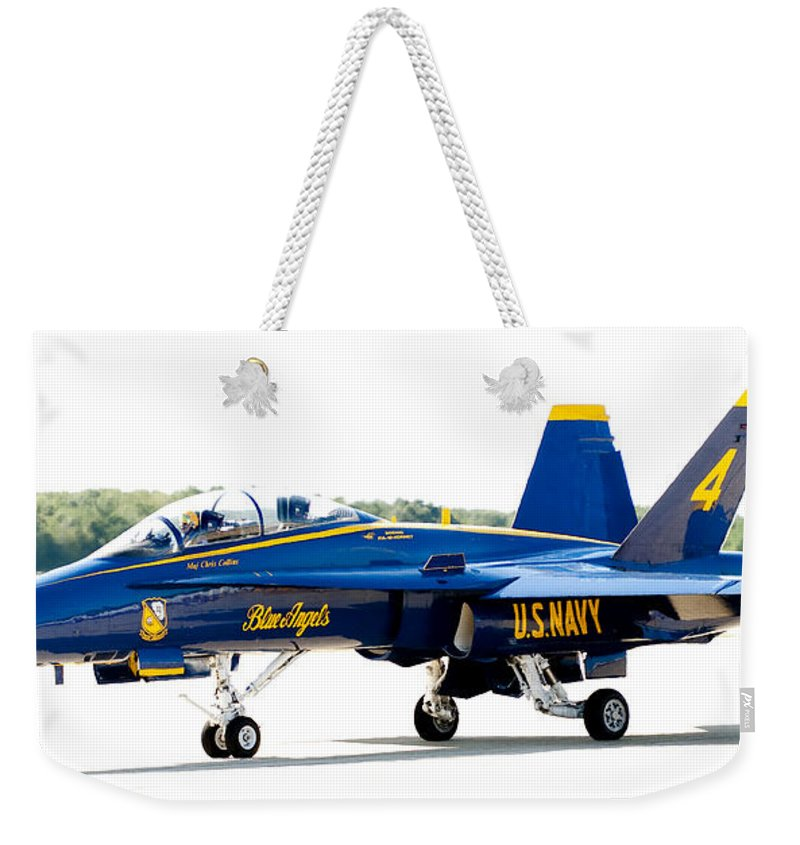Blue Angel Weekender Tote Bag featuring the photograph Number 4 by Greg Fortier