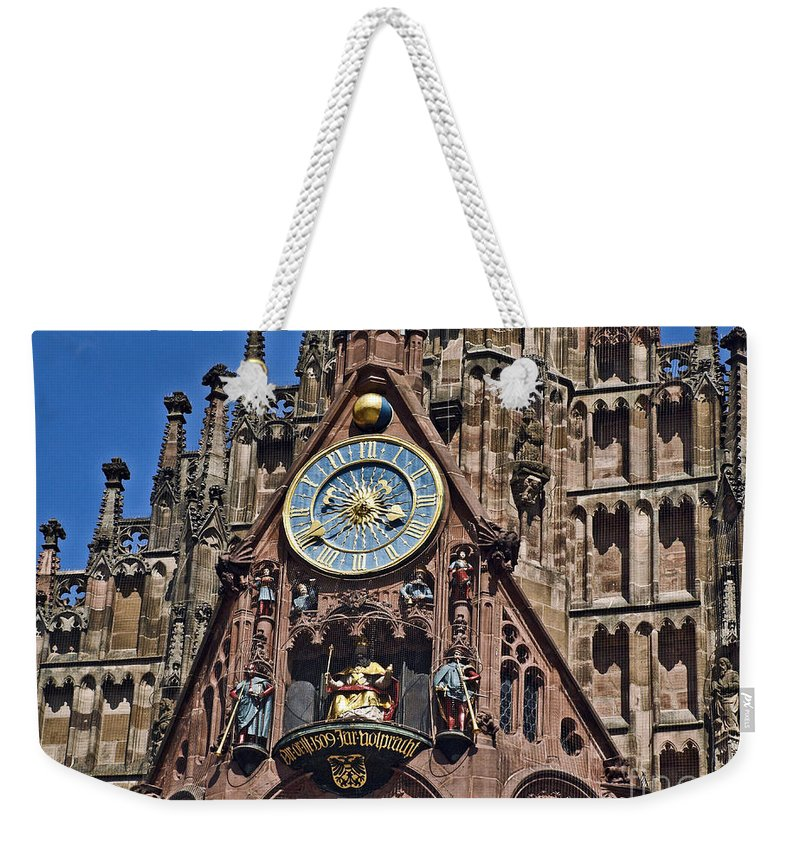 Church Of Our Lady Weekender Tote Bag featuring the photograph Nurnberg Nbrg038 by Howard Stapleton