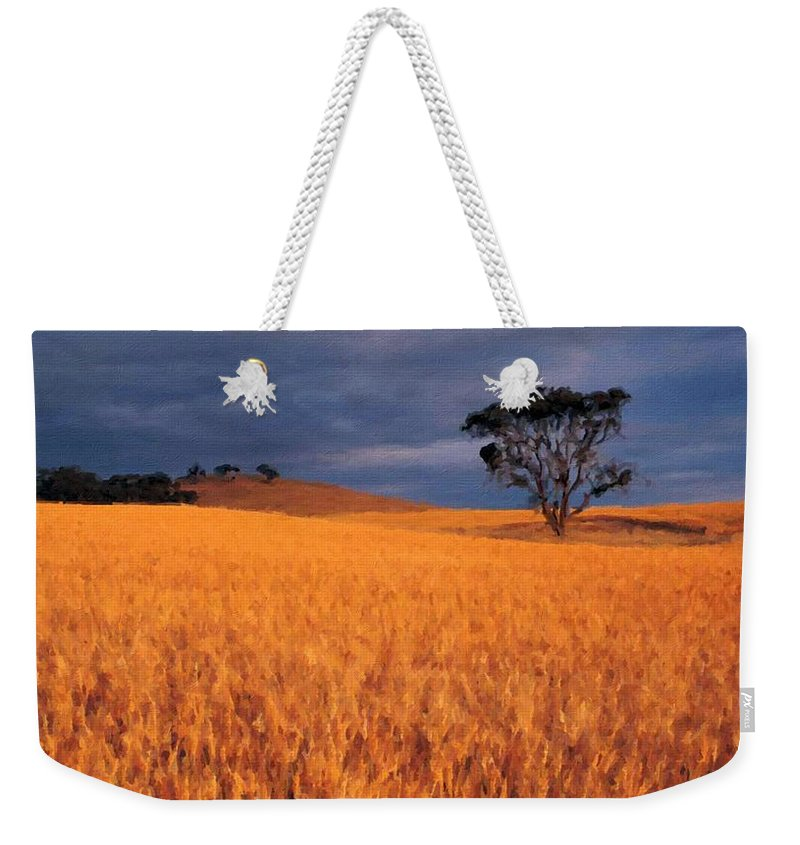 Landscape Weekender Tote Bag featuring the digital art Nurture Nature by Usa Map