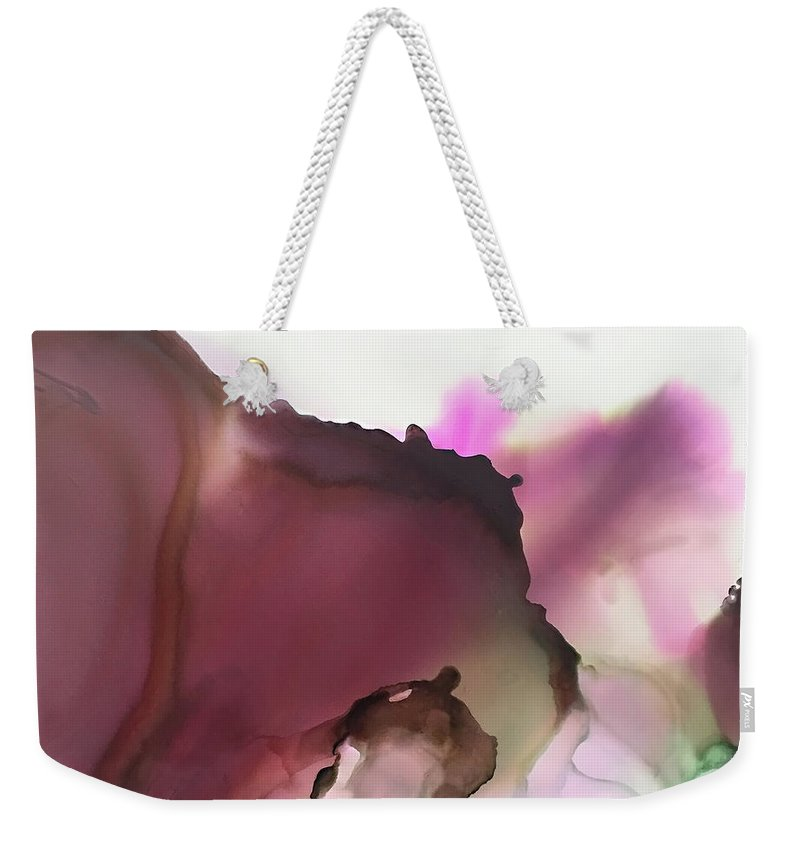 Abstract Weekender Tote Bag featuring the painting Nutshell by Jonny Troisi