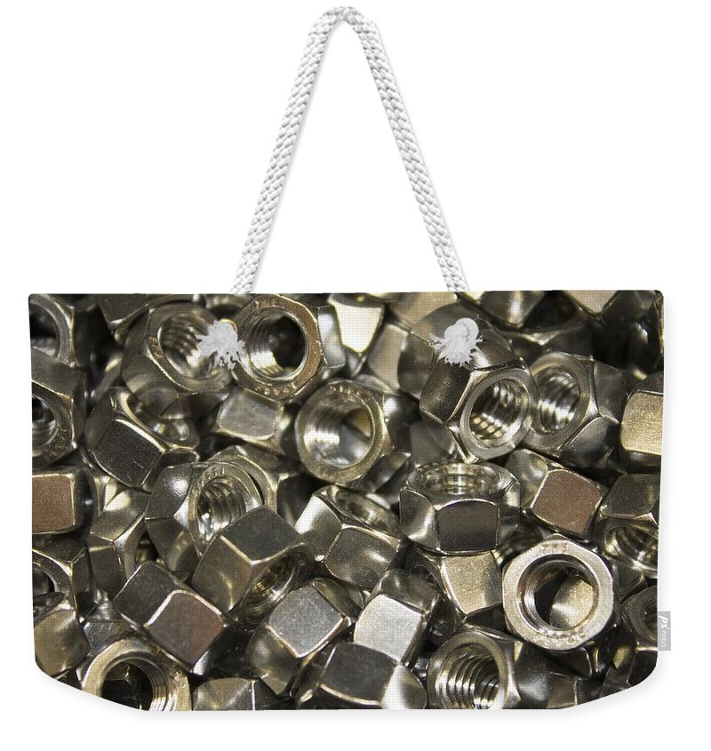 Nuts Weekender Tote Bag featuring the photograph Nuuts And Bolts by FL collection