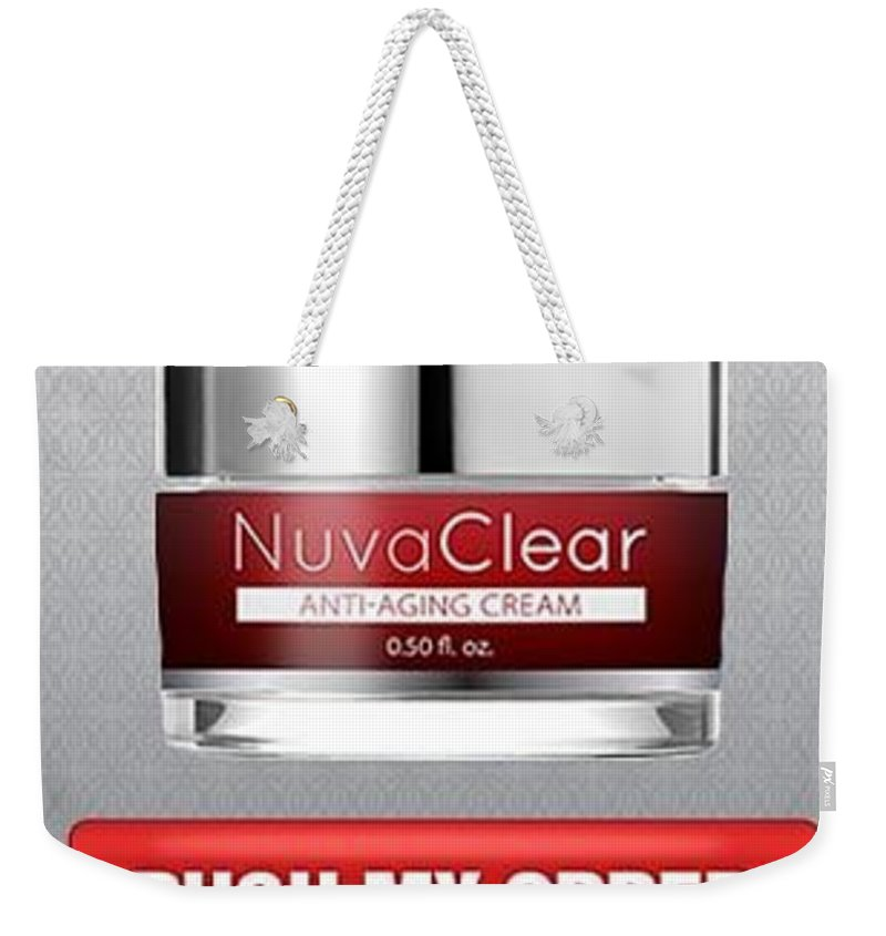 Nuvaclear Cream Weekender Tote Bag featuring the glass art Nuvaclear Cream by NuvaClear Cream