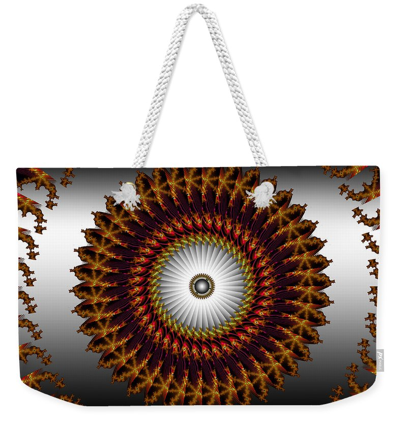 Fractal Weekender Tote Bag featuring the digital art Ny Times by Robert Orinski