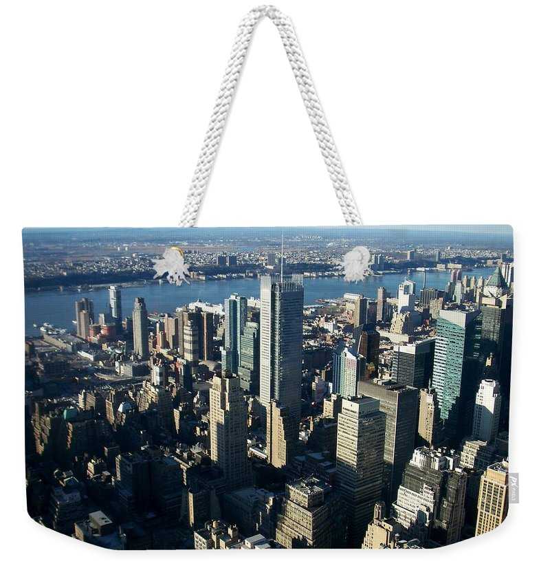 Nyc Weekender Tote Bag featuring the photograph Nyc 1 by Anita Burgermeister