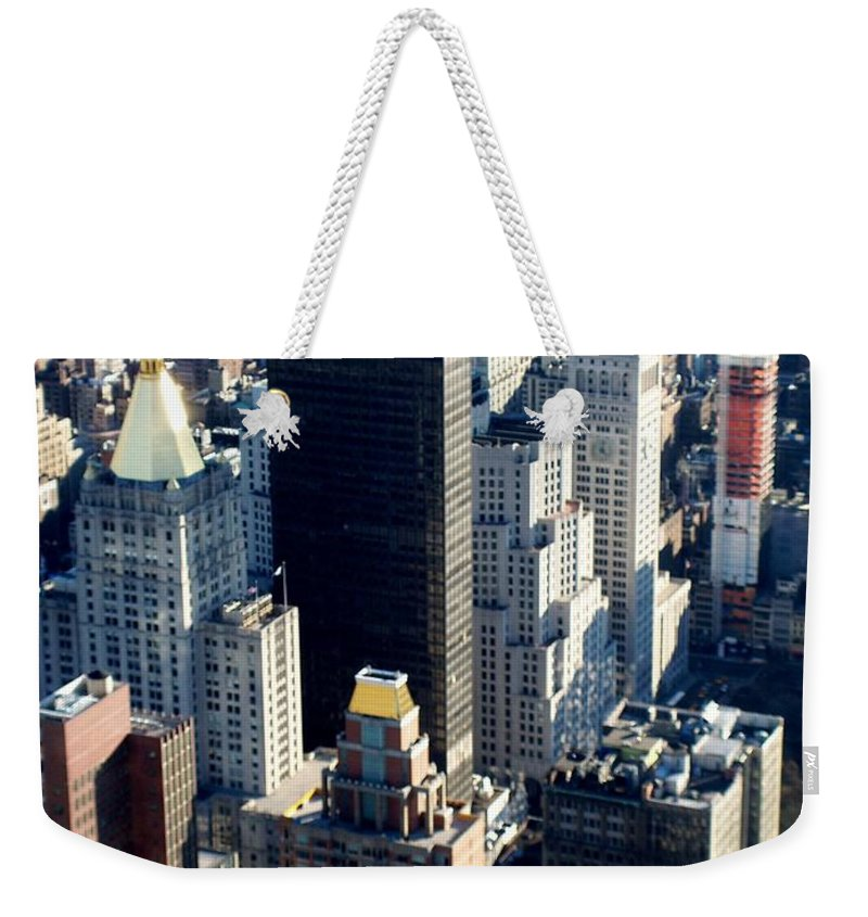 Nyc Weekender Tote Bag featuring the photograph Nyc 2 by Anita Burgermeister
