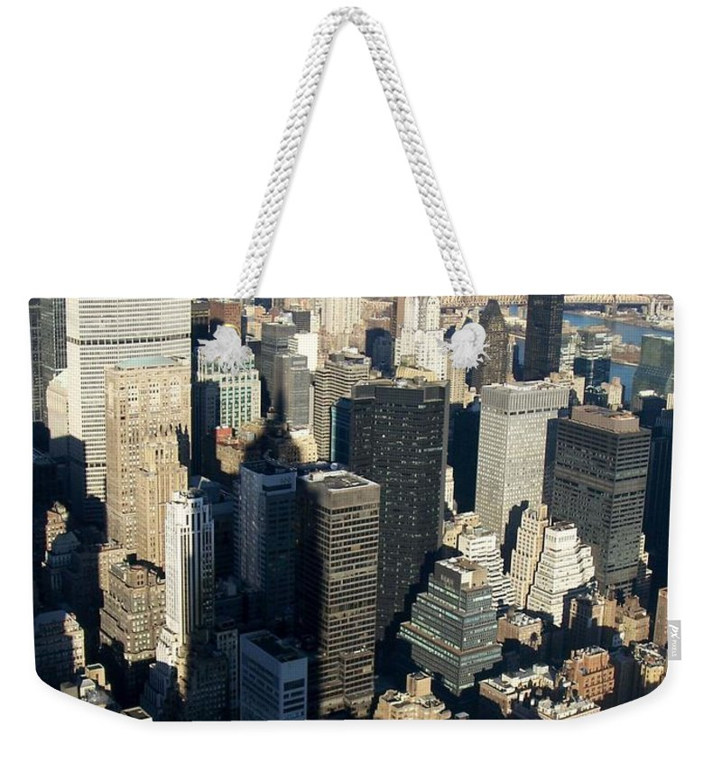 Nyc Weekender Tote Bag featuring the photograph Nyc 3 by Anita Burgermeister