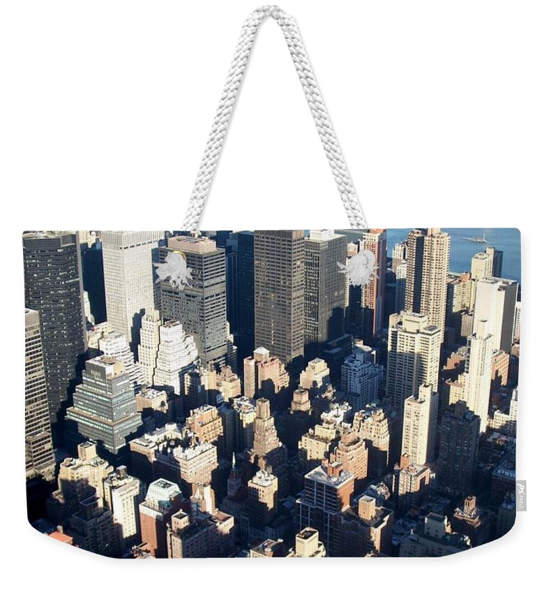 Nyc Weekender Tote Bag featuring the photograph Nyc 4 by Anita Burgermeister